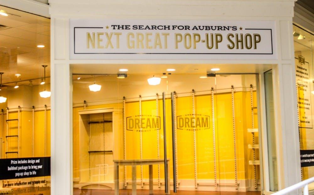 Mall hosting pop-up shop contest