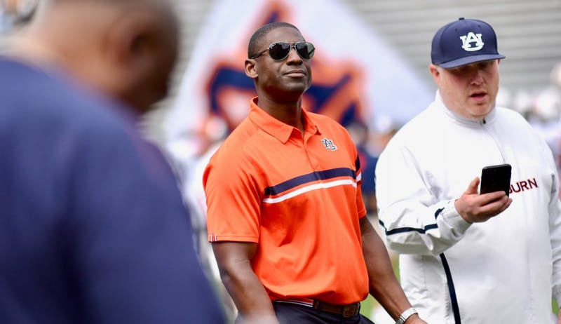 Athletic Director Allen Greene during A-Day on Saturday, April 13, 2019, in Auburn, Ala.