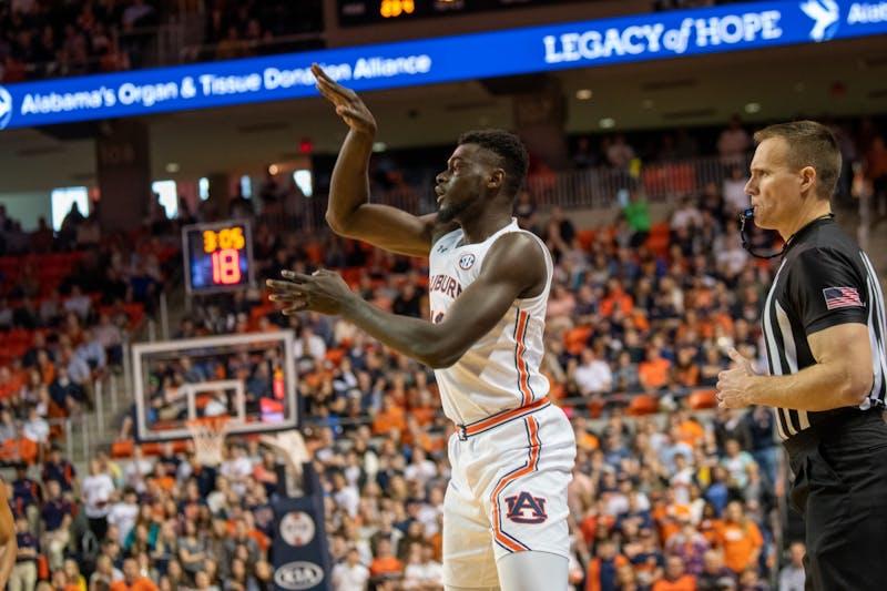 Babatunde Akingbola (13) shoots the ball during Auburn Men's Basketball vs. Georgia, on Saturday, Jan. 11, 2019, in Auburn, Ala.