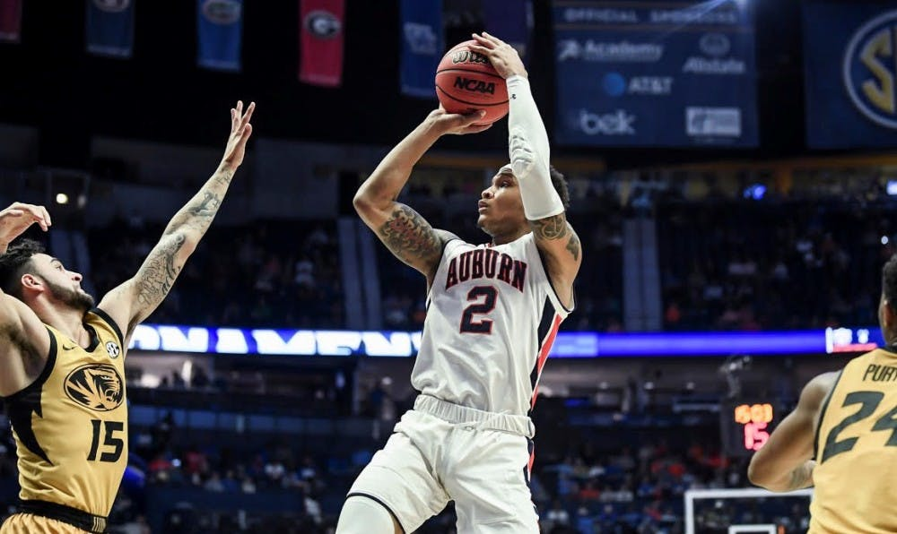 Bryce Brown ignites in second half, leads Auburn over Mizzou for 1st SEC Tournament win since 2015
