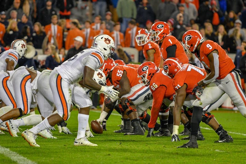 Auburn and Georgia face off during Auburn Football vs. Georgia on Saturday, Nov. 10, 2018, in Athens, Ga.