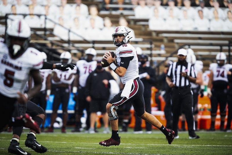 South Carolina quarterback Collin Hill. Photo via SEC Media Portal.
