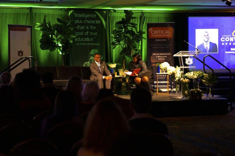 Eddie Glaude speaks at the Critical Conversations Speaker Series held at The Hotel at Auburn University on Jan. 21, 2020, in Auburn, Ala.