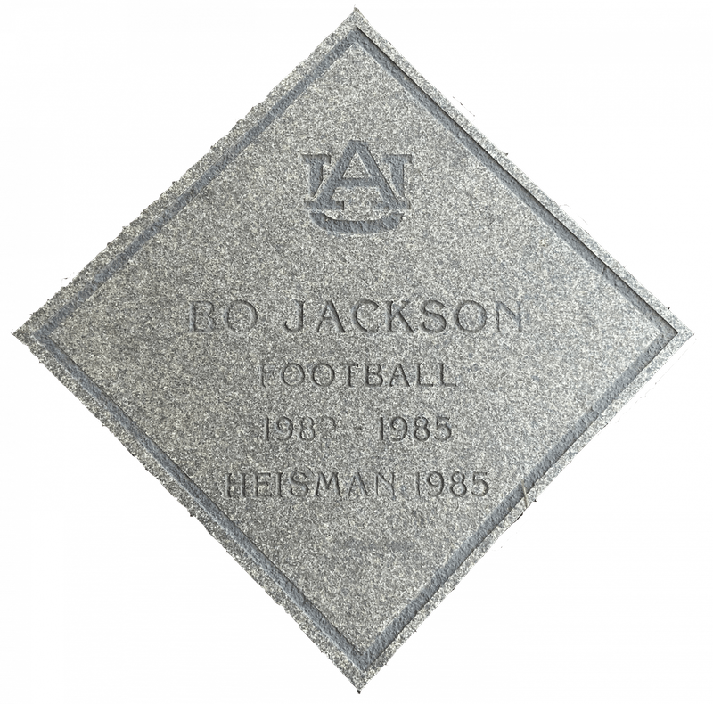 Bo Jackson's plaque was one of the first installed on the Tiger Trail.