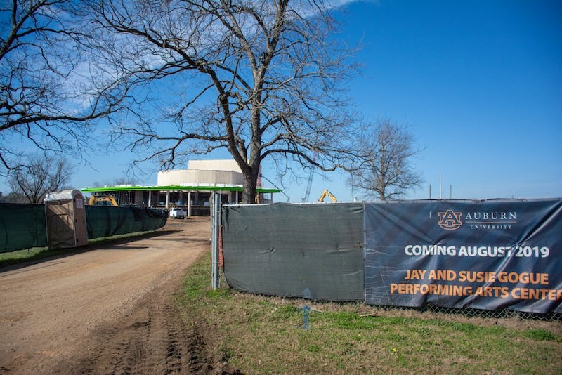 The Gogue Performing Arts Center is under construction on Feb. 7, 2019.