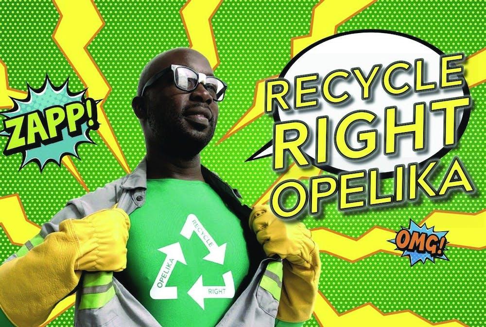 Opelika calls on recycling superhero