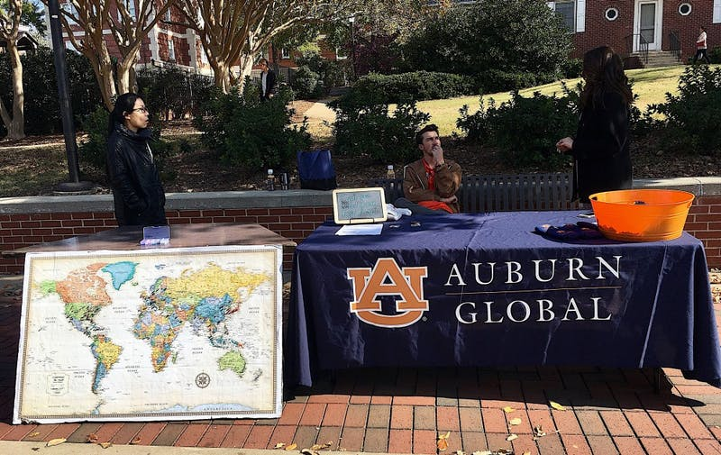 Auburn Global celebrates International Education Week on the Haley Concourse on Wednesday, Nov. 15, 2017.