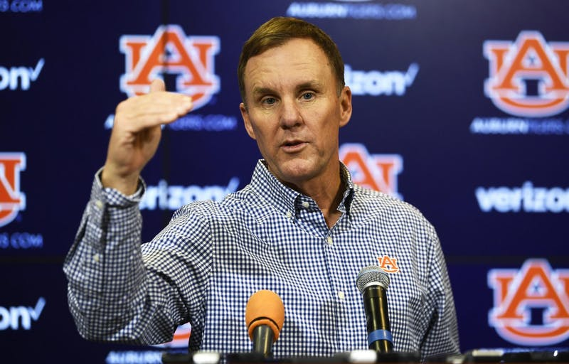 Chad Morris speaks at a press conference on Dec. 10, 2019, in Auburn, Ala.