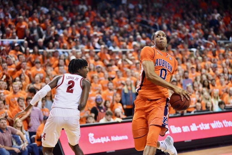 Horace Spencer (0) during Auburn Men's Basketball vs. Alabama on Feb. 2, 2019, in Auburn, Ala.