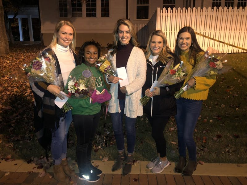 The Top 5 Miss Auburn candidates were announced Wednesday, Nov. 28, 2018, on the back steps of Cater Hall.