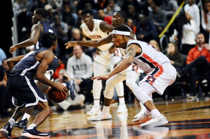 Bryce Brown (2) on defense during Auburn Men's Basketball vs. Lincoln Memorial on Nov. 2, 2018, in Auburn, Ala.