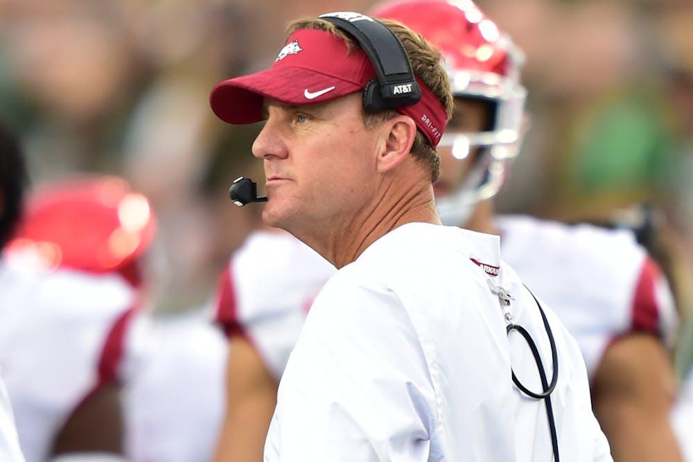 Jarrett Stidham, Gus Malzahn share unique connections with Arkansas coach Chad Morris