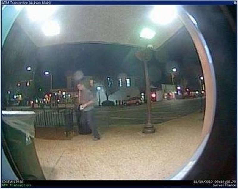 Citizens are advised to call Auburn Police if they know the suspects shown in this image from an ATM camera. (Courtesy of Auburn Police)