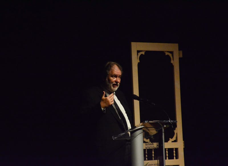 Rick Bragg spoke at the Gogue Performing Arts Center Thursday night as part of the Women's Philanthropy Board's Summer Nights program.