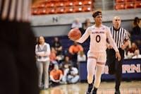 Daisa Alexander (0) drives the ball down the court during Auburn Women's Basketball vs. Kentucky on Feb. 5, 2019, in Auburn, Ala.