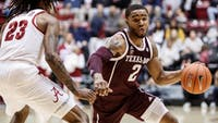 TJ Starks (2) via Sam Craft / Texas A&M athletics.