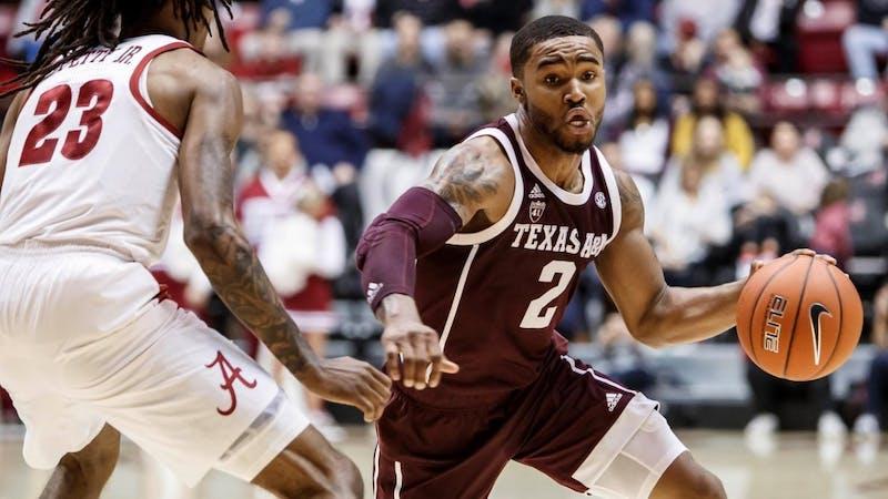 TJ Starks (2) via Sam Craft / Texas A&M athletics.