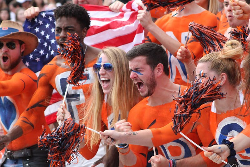 Auburn fans cheer during a game against Alabama State on Sept. 11, 2021, from Jordan-Hare Stadium in Auburn, Alabama.
