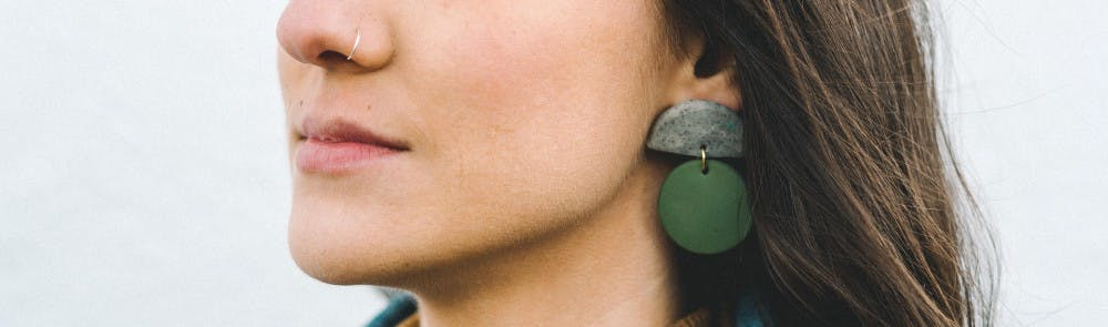 Local women make abstract art wearable with clay earrings