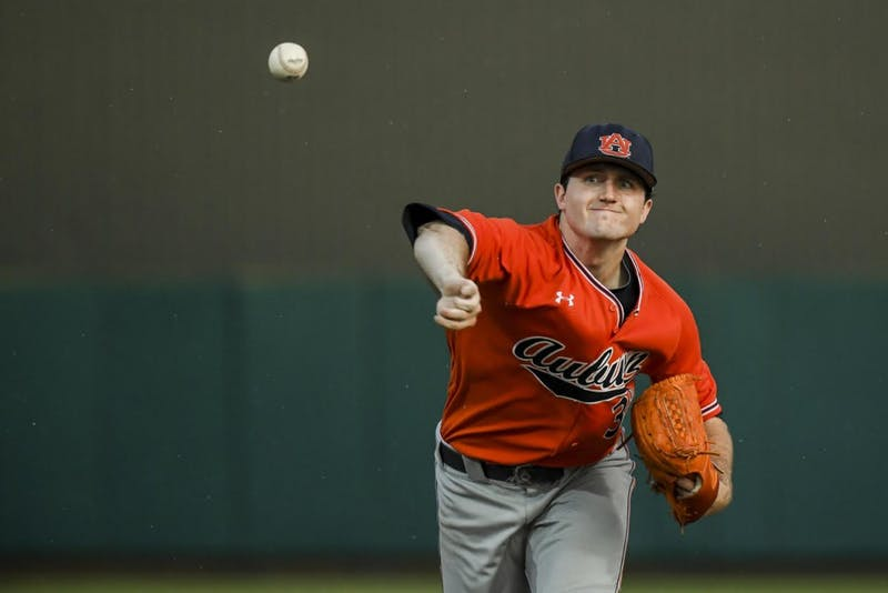 Casey Mize (32).Auburn vs Army during the NCAA Baseball Regionals on Saturday, June 2, 2018, in Raleigh, NC.