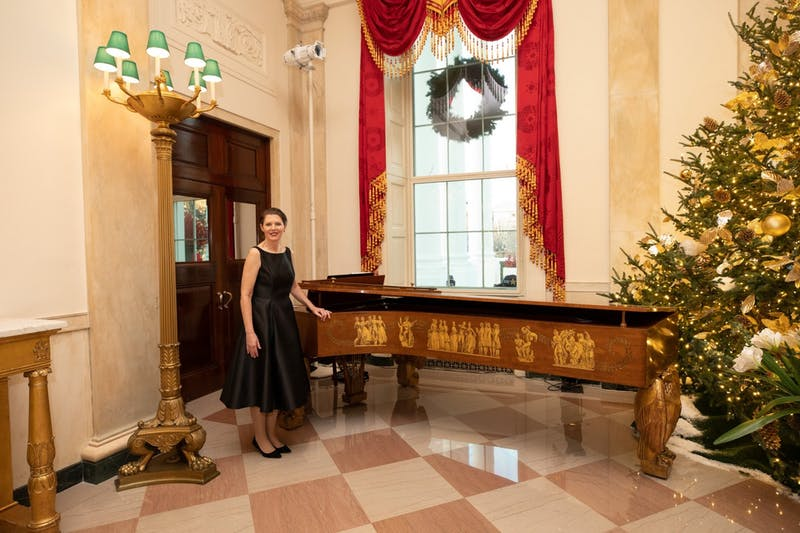 Christi Gibson performed at the White House during a Christmas celebration in 2019.