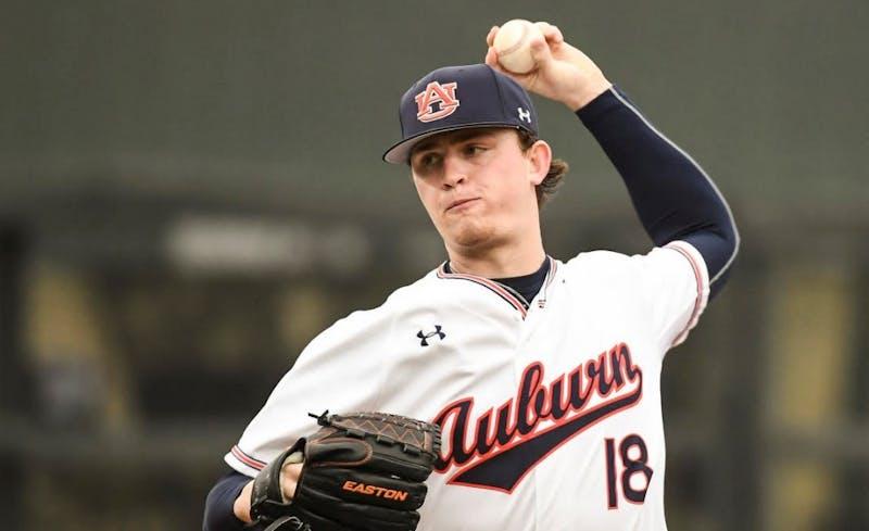 Brooks Fuller (18). Auburn baseball vs Alabama A&M on Wednesday, February 20, 2019, in Auburn, Ala