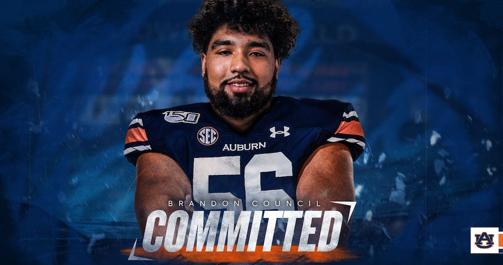 Auburn lands grad transfer offensive tackle Brandon Council from Akron