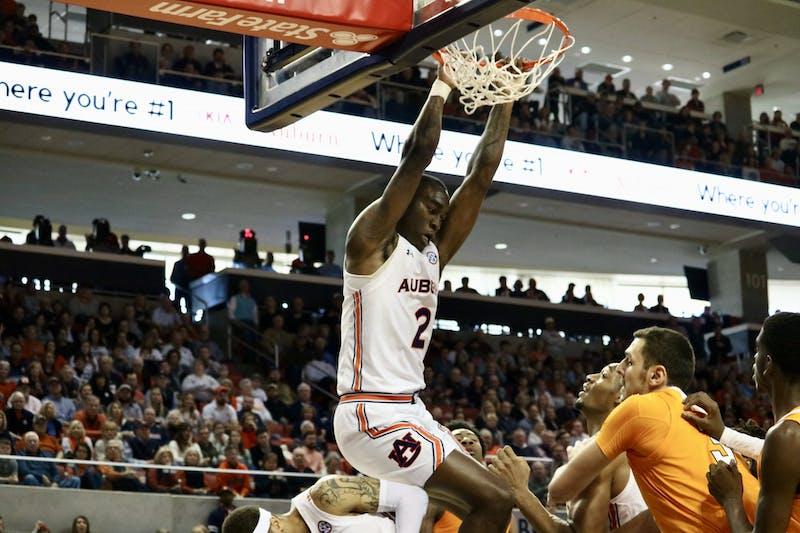 Jaylin Williams (2) during the Auburn Men's Basketball vs. Tennessee game on Saturday, Feb. 22, in Auburn, Ala.
