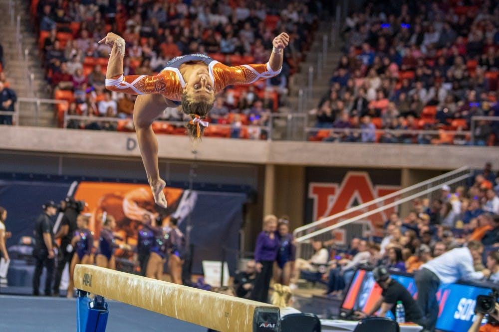 Derrian Gobourne shines in Auburn gymnastic's upset of No. 4 LSU