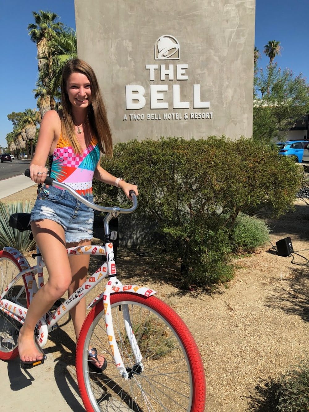 Senior visits, stays in Taco Bell Hotel