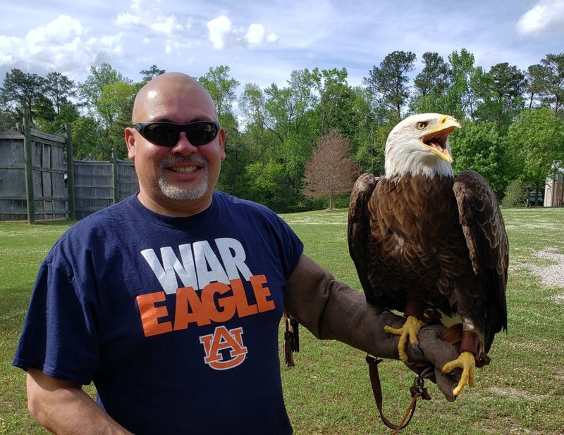 Will Jimeno poses with Spirit in Auburn, Ala.