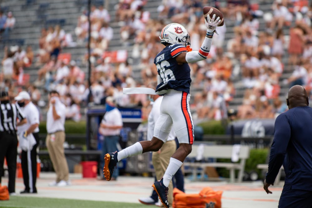 Auburn cornerback Jaylin Simpson named SEC Freshman of the Week