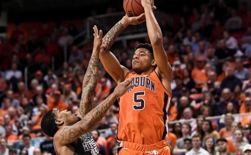 Chuma Okeke (5) Auburn men's basketball vs Mississippi State on Saturday, March 2, 2019, in Auburn, Ala.