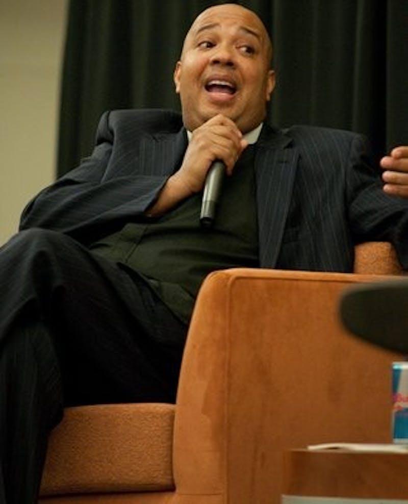 "Joseph ""Reverend Run"" Simmons came to the Student Center ballroom Wednesday night."