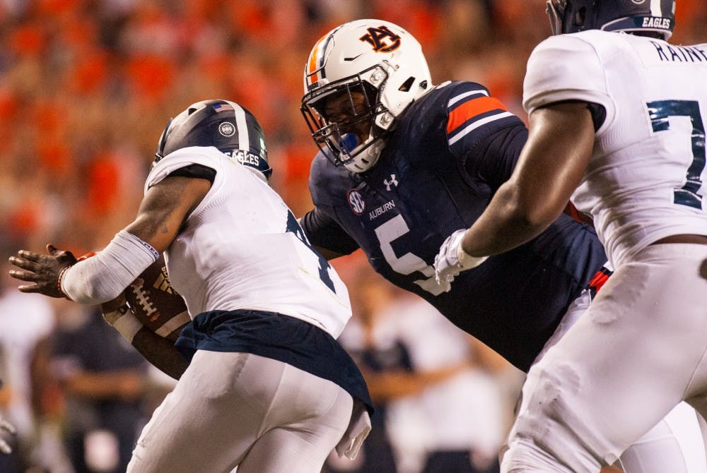 Auburn rising senior Derrick Brown finishes as finalist for Man of the Year