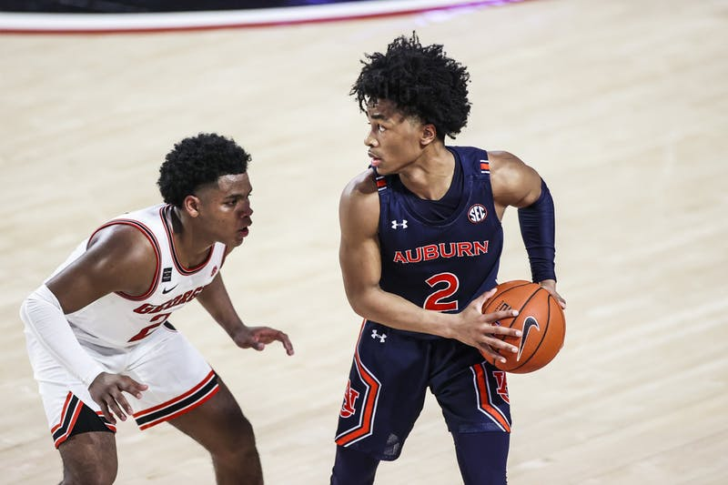 Auburn during a game against Georgia at Stegeman Coliseum in Athens, Ga., on Wednesday, January 13, 2020. (Photo by Tony Walsh)