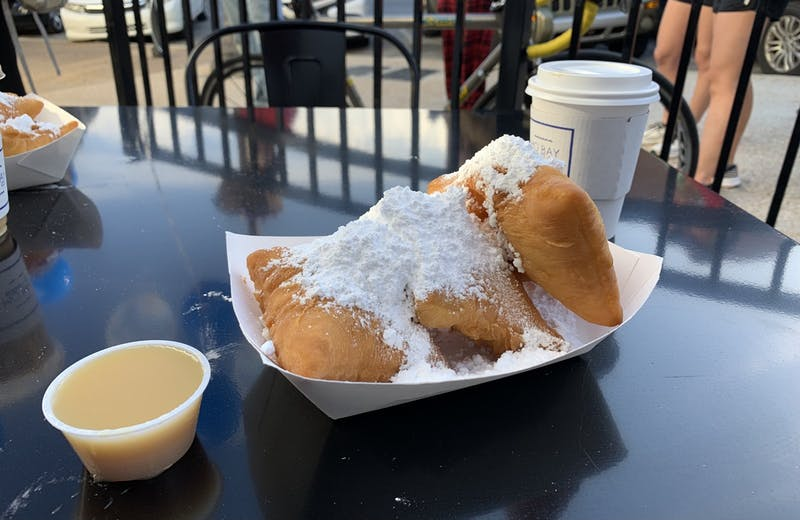 Mo'Bay Beignet Co. sells beignets, syrups, coffee and other drinks.