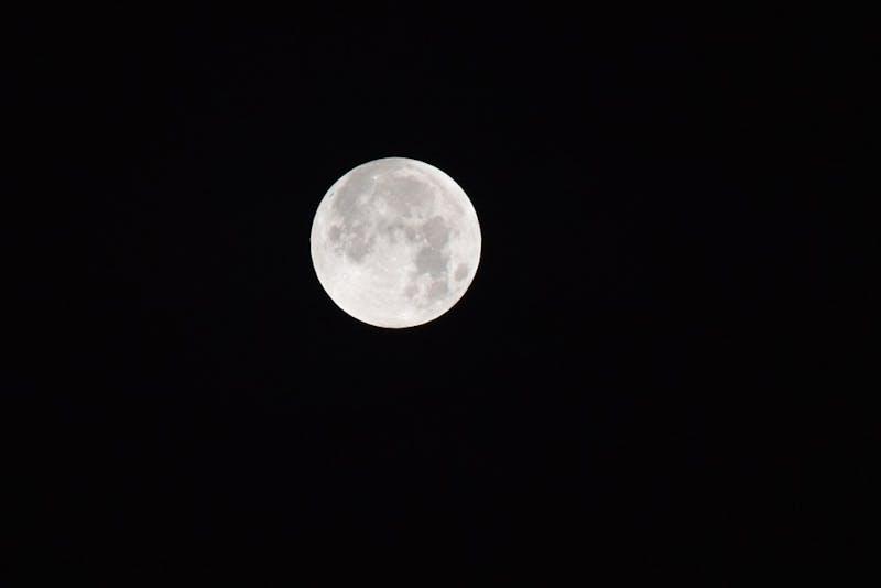 The moon on Wednesday, Jan. 31, 2018, in Auburn, Ala.