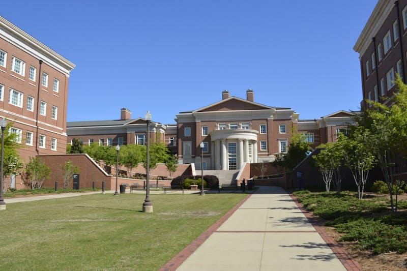 The Shelby Center on Auburn University's campus on April 16, 2020, in Auburn, Ala.