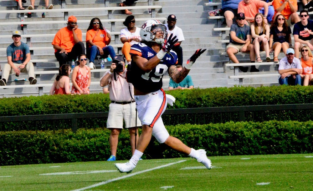 Matthew Hill makes case to be final piece in Auburn WR rotation with stellar A-Day showing