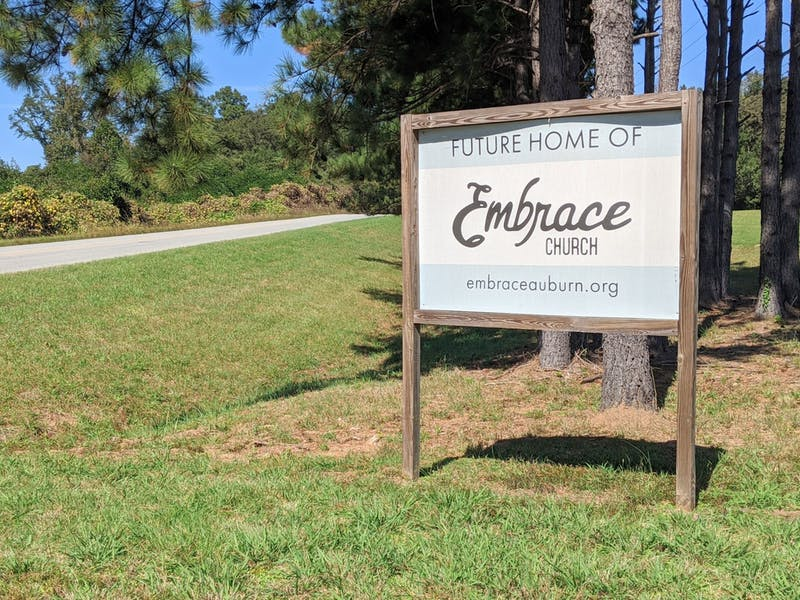 Embrace's plot off of North College Street on Oct. 19, 2020.