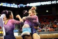Auburn Gymnastics defeats Iowa on Friday, Jan. 4, 2019, in Auburn, Ala.