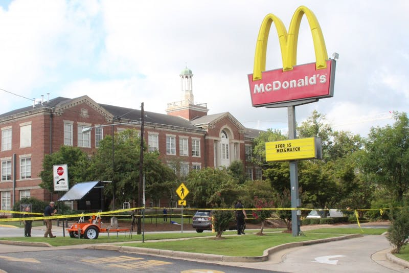 Police responded to a shooting at the McDonald's on West Magnolia Avenue early Sunday morning, Sept. 9, 2018.