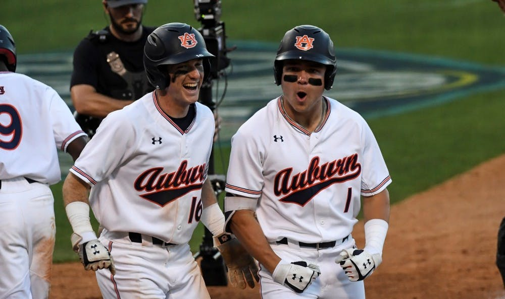 Big hits from Judd Ward, steady pitching secure Auburn win on Day 1 of SEC Tournament