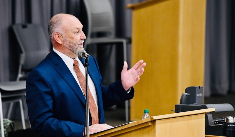 """A vision for the future of Auburn University was set forth Tuesday as part of Auburn President Steven Leath's """"State of the University: Auburn on the Move"""" address."""