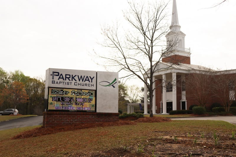 Parkway Baptist Church advertises that it will be hosting an Easter Geobash as a way to celebrate Easter on the Plains on Mar. 24, 2021, in Auburn, Ala.