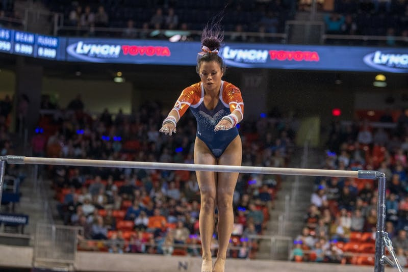 #14 Auburn Gymnastics defeated #4 LSU 196.700 - 196.275 on Friday, Jan. 11, 2019, in Auburn, Ala.