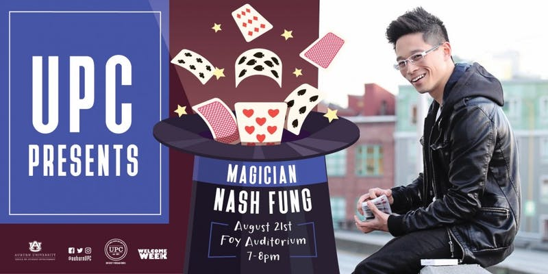Magician Nash Fung Welcome Week event