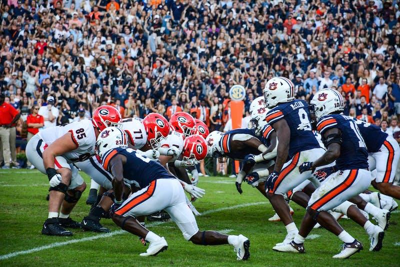 Oct. 9, 2021; Auburn, AL, USA; Auburn and the University of Georgia football at Jordan-Hare Stadium.