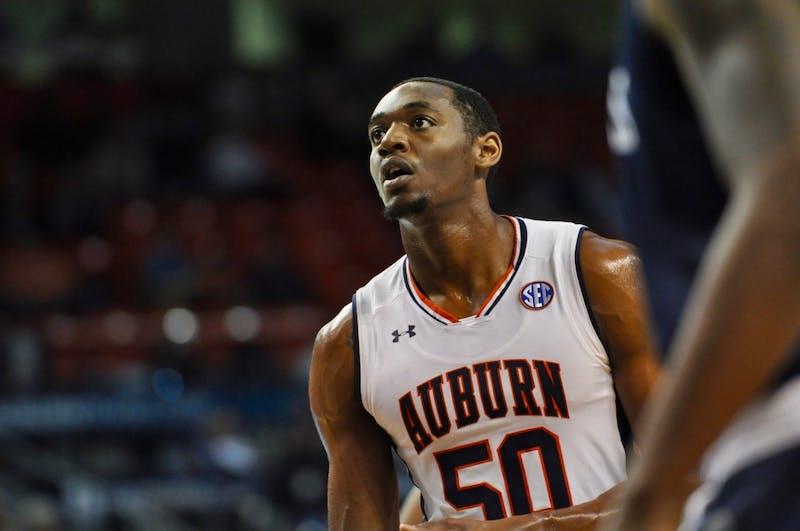 Austin Wiley (50) during Auburn Men's Basketball vs. Saint Peters on Wednesday, Nov. 28, 2018 in Auburn, Ala.